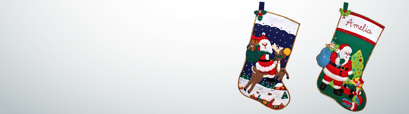 Personalise a traditional handmade stocking